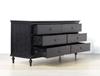 Picture of CAROLINE Ash Veneer 6 Drawer Dressing Table *Black