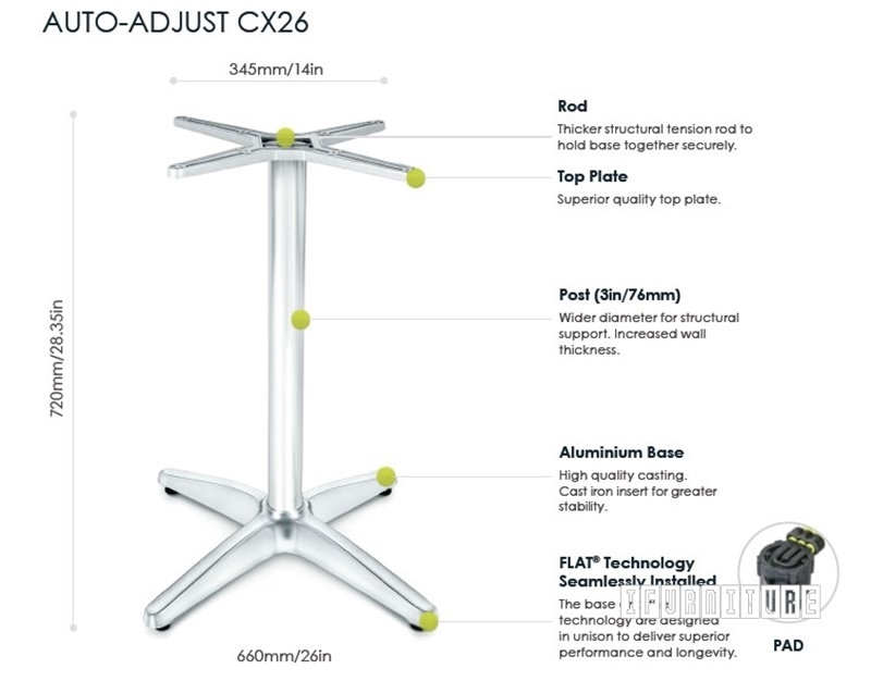 Picture of CX26 FLATTECH Auto Adjust Table Base