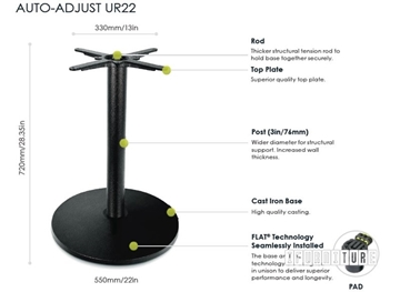 Picture of UR22 FLATTECH Auto Adjust Table Base