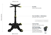 Picture of PX23 FLATTECH Auto Adjust Table Base