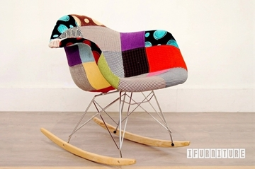 Picture of Replica Eames rocking chair Fabric Patch Version