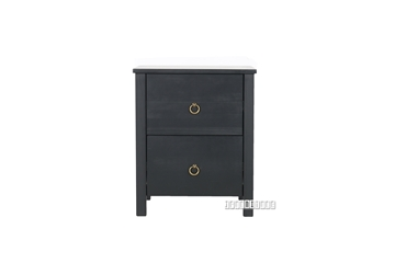 Picture of METRO Pine Bedside Table black