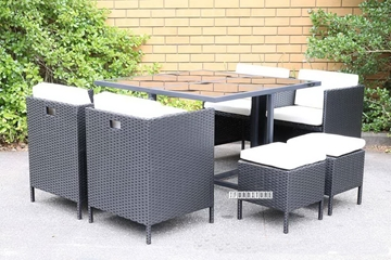 Picture of Summerland 9 PC Outdoor Cube Dining Set /Grey or Black