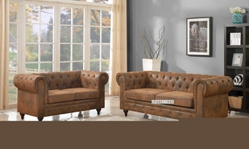 Picture of CHAPLIN ARMCHAIR *brown-toned air leather