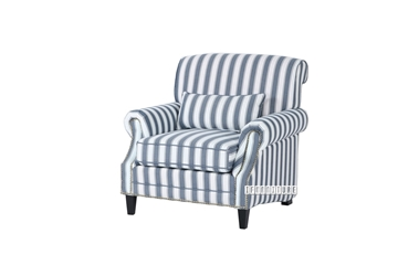 Picture of OCEAN ARMCHAIR *Striped Blue/White