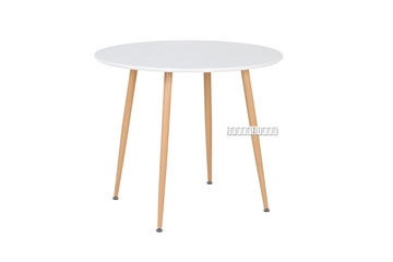 "Picture of OSLO ROUND 36"" DINING TABLE *MATT WHITE"