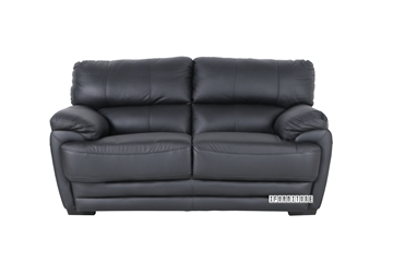 Picture of EALING LOVESEAT *Genuine Leather Black
