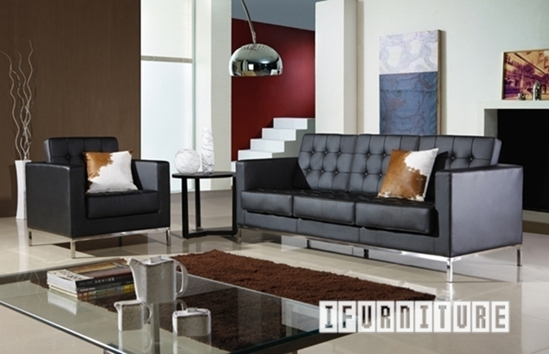 Picture of Replica FLORENCE KNOLL 1+2+3 SOFA RANGE  *Italian Leather