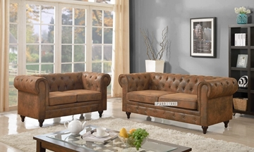 Picture of CHAPLIN SOFA *brown-toned air leather