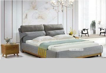 Picture of MARCO Fabric Platform Bed in QUEEN/King Size *Washable
