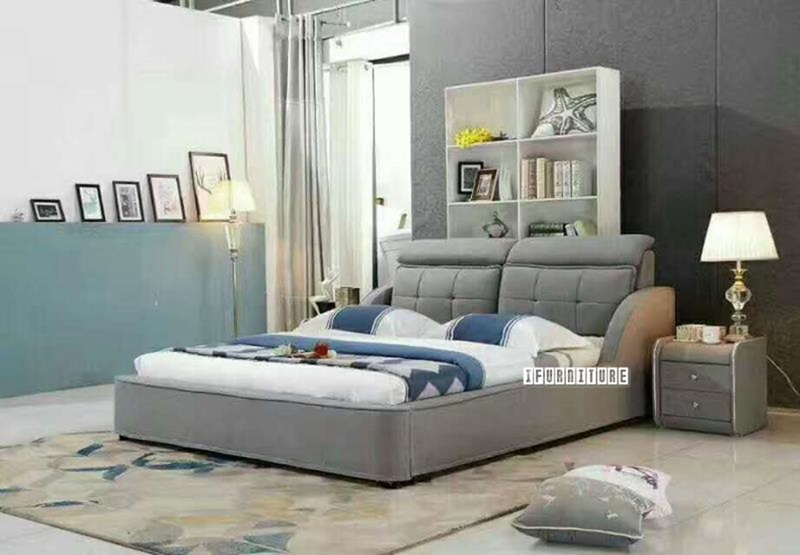 Picture of SHADOW Fabric Platform Bed in King Size *Washable