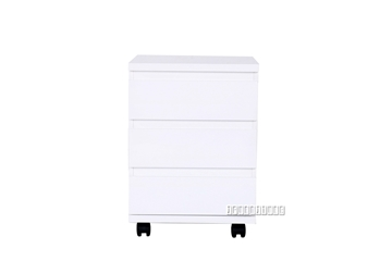 Picture of BAKEWELL White Gloss File Cabinet / Office Mobile
