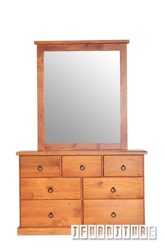 Picture of Samantha  SOLID PINE Dresser & Mirror