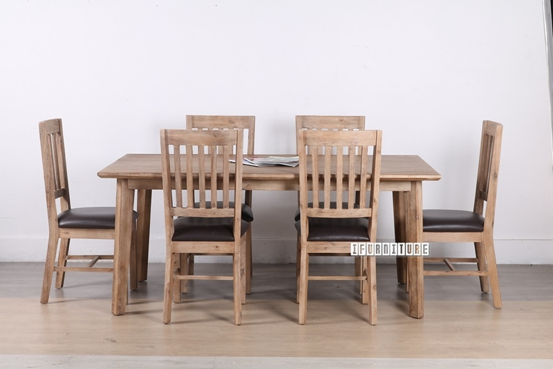 Picture of NEPTUNE SOLID ACACIA 7PCS DINING SET