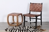 Picture of COSTA Solid Teak Chair *Genuine Cowhide