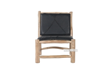 Picture of BOTAFOGO Solid Teak Chair *Genuine Cowhide