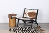 Picture of MAKASAR Solid Teak Chair *Genuine Goathide