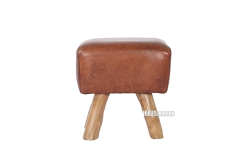 Picture of SHIRE Stool *Genuine Cowhide