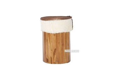 Picture of TIRICH Stool *Genuine Goathide