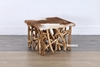Picture of JAVEA Side Table *Genuine Goathide & Solid Teak