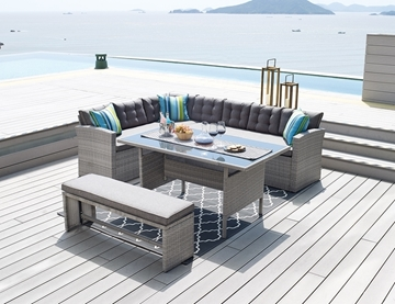 Picture of Milton Sectional Patio Dining Set