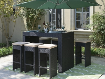 Picture of Tolars 7 PCS Patio Bar Set