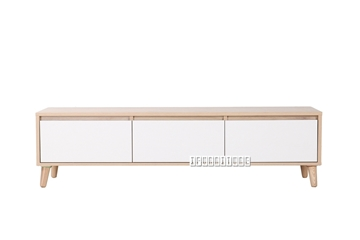 Picture of RENO 150 WHITE DRAWER TV UNIT *SOLID WOOD LEG