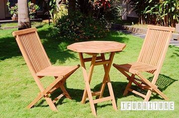 Picture of BALI SOLID TEAK 3pcs FOLDING TABLE set MODEL 206A