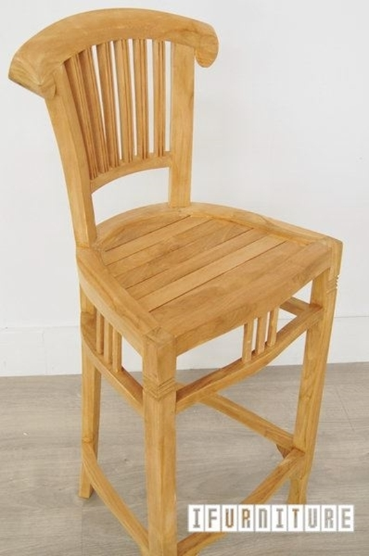 Picture of BALI SOLID TEAK BAR CHAIR MODEL 090