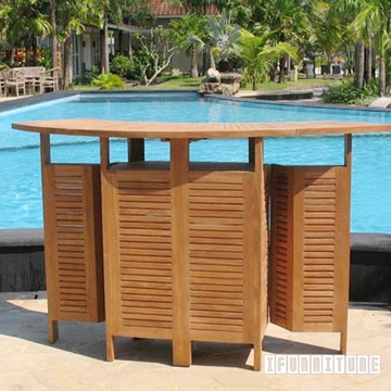 Picture of BALI SOLID TEAK EXTENSION BAR TABLE MODEL 140