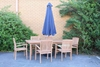 """Picture of BALI SOLID TEAK 7PCS DINING SET 87*39"""" WITH UMBRELLA HOLE MODLE 165"""