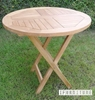 Picture of BALI SOLID TEAK 5PCS ROUND FOLDING  TABLE SET MODEL 122
