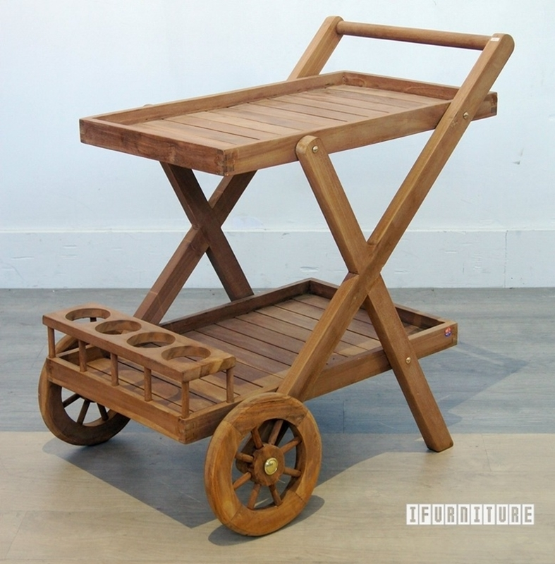 Picture of BALI SOLID TEAK SERVING TROLLEY