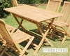 Picture of BALI SOLID TEAK 5PCS FOLDING TABLE SET WITH UMBRELLA HOLE MODEL 203B