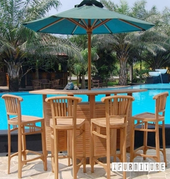 Picture of BALI SOLID TEAK BAR SET MODEL 140