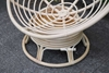 Picture of POD INDOOR-OUTDOOR DAY BED/ SWIRL & ROCKING CHAIR WITH CREAM CUSHION *REAL RATTAN