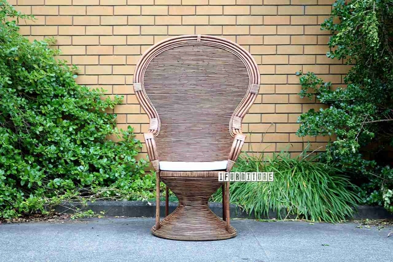 Picture of PEACOCK CHAIR MADE WITH REAL NATURAL RATTAN