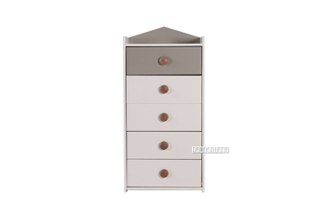 Picture of TWIRL 5 Drawer CHEST *MATTE GREY