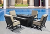 Picture of RENNES 5PCS DINING SET WITH FIRE PIT