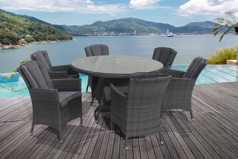 Picture of NATES 7PCS OUTDOOR DINING SET