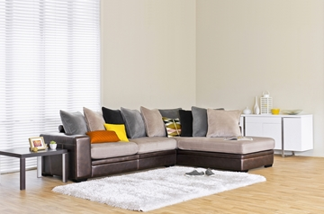 Picture of ERSO SECTIONAL SOFA *AIR LEATHER SMOKE