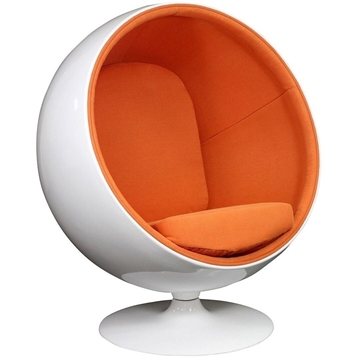 Picture of REPLICA BALL Chair orange *Cashmere & Fiber Glass