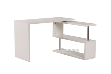Picture of SEAN SWIRL DESK IN MATT WHITE