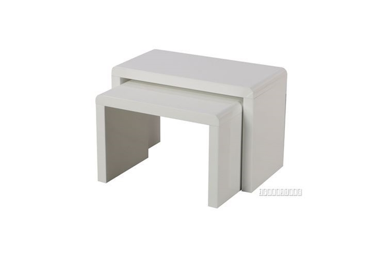 Picture of WEISS Nesting Table *White Gloss