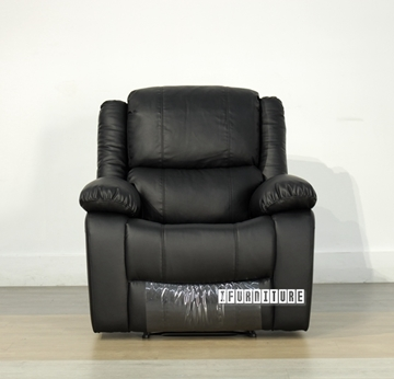 Picture of BRIGHTON Reclining armchair *BLACK Air leather
