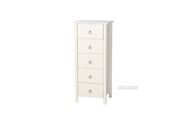 Picture of METRO SOLID PINE 5 DRW SLIMBOY *WHITE
