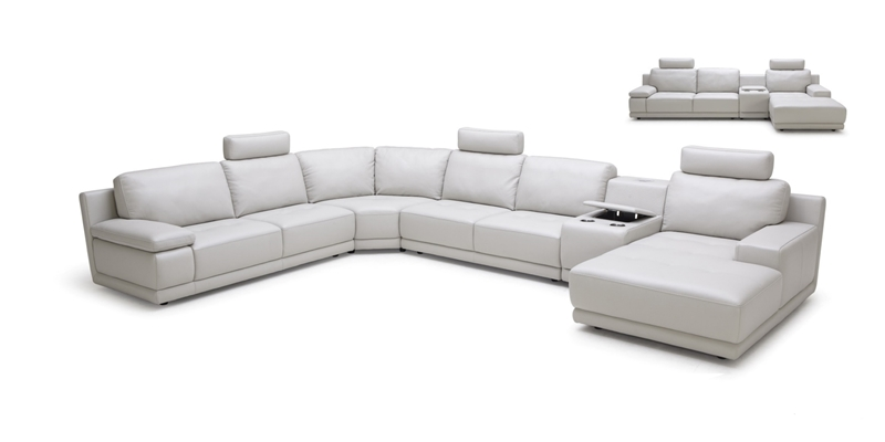 Picture of CASTLEFORD SECTIONAL SOFA  *100% GENUINE LEATHER