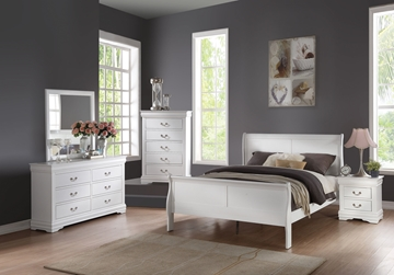 Picture of Louis Philippe bedroom Collection *White