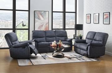 Picture of Saul II 1+2+3 Manual ReclinING sofa RANGE* Grey