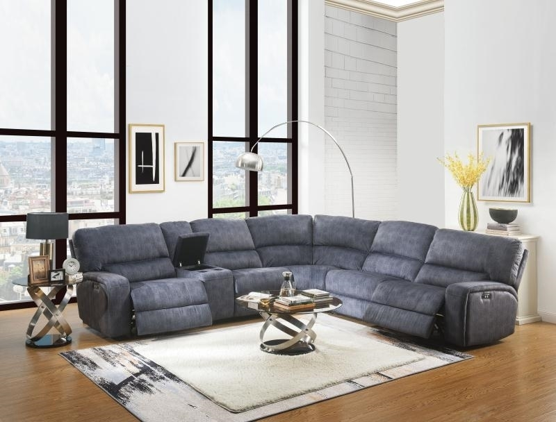 Picture of Saul II Power Recliner Sectional sofa *grey